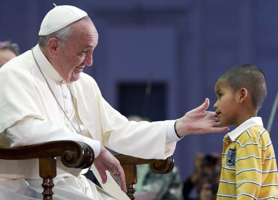 Carlos Boy and Pope Francis