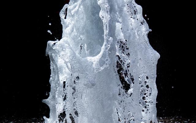 fountain of bubbling water